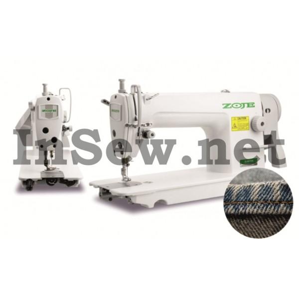 Универсальная одноигольная промышленная швейная машина Zoje ZJ 8700-5 для тяжелых материалов (с сервоприводом) - Швейное оборудование (арт.ZJ 8700-5)