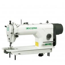 Одноигольная машина Zoje ZJ 9600 челночного стежка с прямым приводом, позиционированием иглы и с нижним двигателем материала